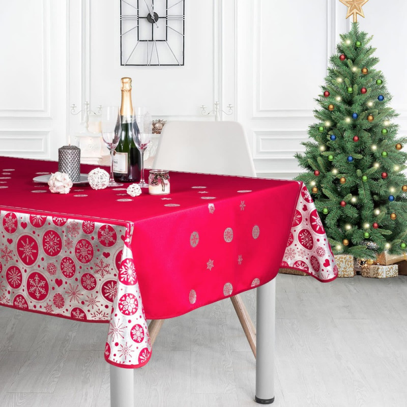 Stain resistant tablecloth - Noël Flocon