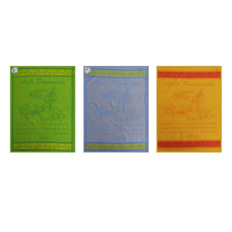 Pack of 3 Jacquard woven tea towels...