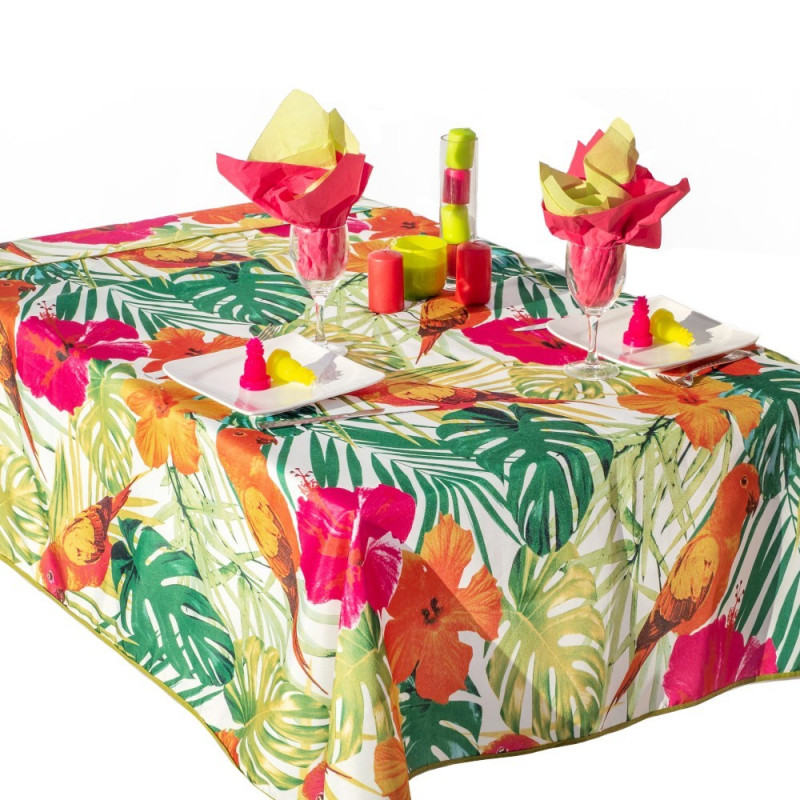 Stain resistant tablecloth - Perroquet