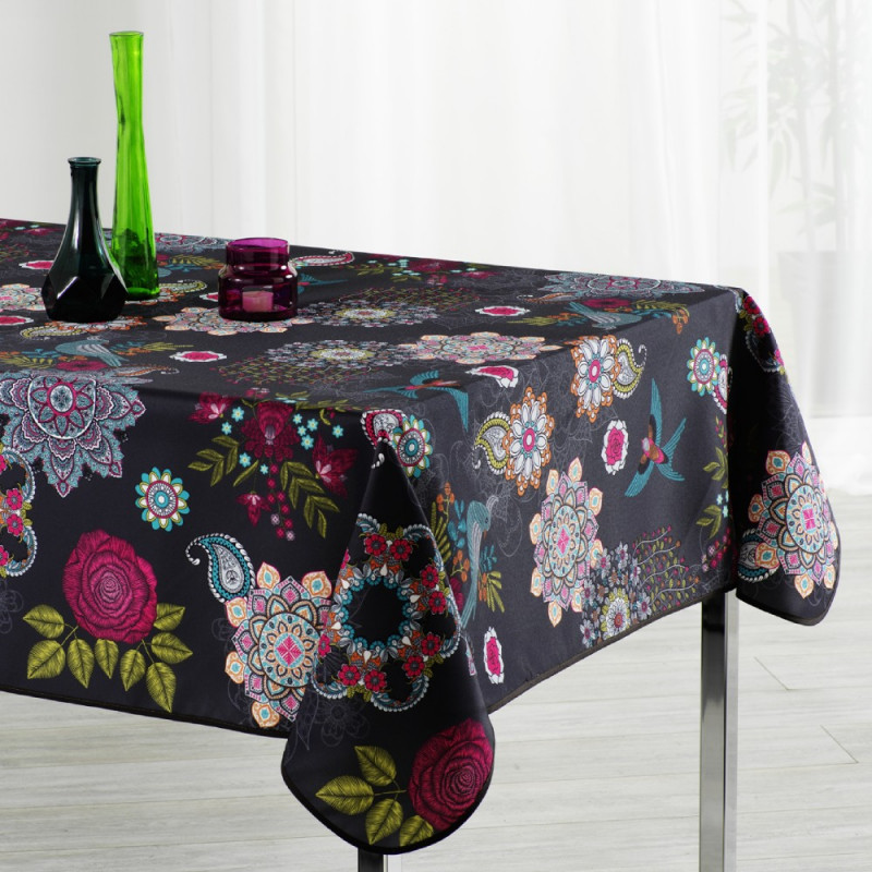 Stain resistant tablecloth - Fleurs...