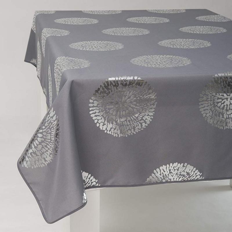 Nappe Ronde Bulles Design Antitache Infroissable 100 Polyester Tissu 160 Cm