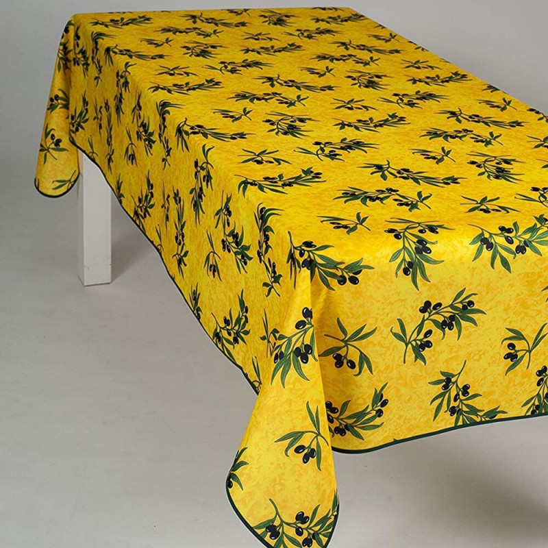 Stain resistant tablecloth - Olive