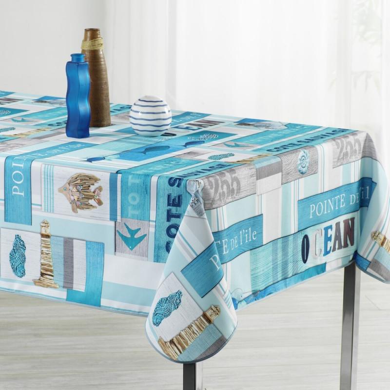Stain resistant tablecloth - Océan