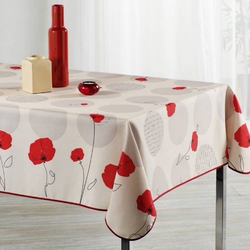 Stain resistant tablecloth - Fleur...